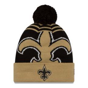 Adult New Era New Orleans Saints Logo Whiz Beanie