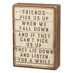 'Friends' Box Sign Art