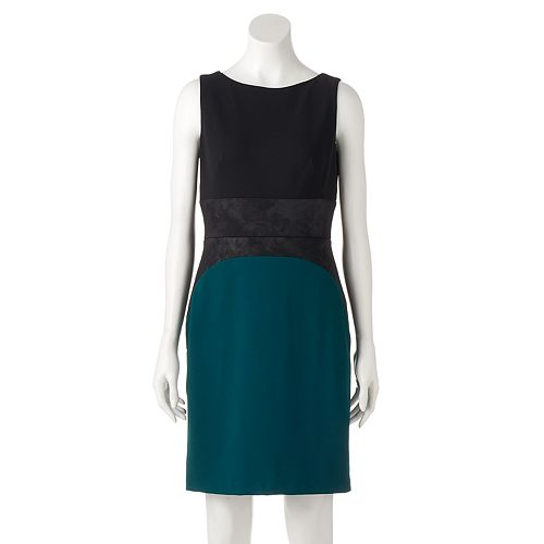 Women's DR by Donna Ricco Colorblock Sheath Dress