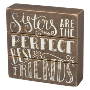 """Sisters"" Box Sign Art"