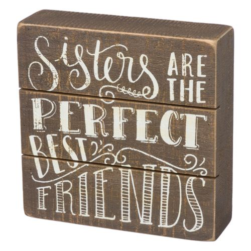 """Sisters"" Box Sign Art"