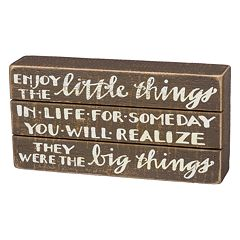 'Enjoy The Little Things' Box Sign Art