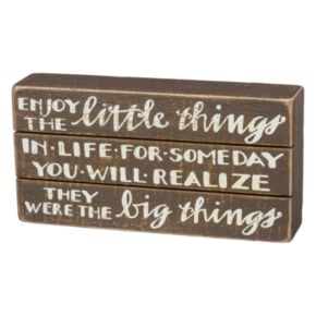 """Enjoy The Little Things"" Box Sign Art"