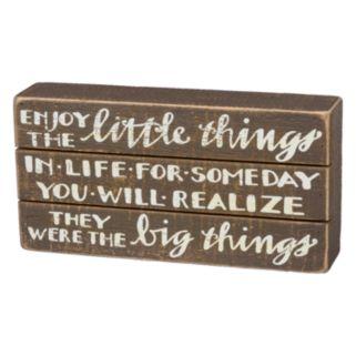 """Enjoy The Little Things"" Box Sign Art"
