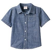 Toddler Boy Jumping Beans® Chambray Button-Front Shirt