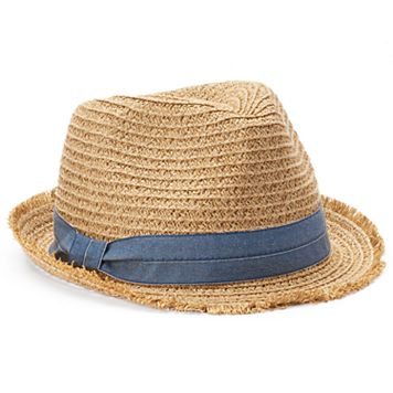 SONOMA Goods for Life™ Chambray Trim Fedora