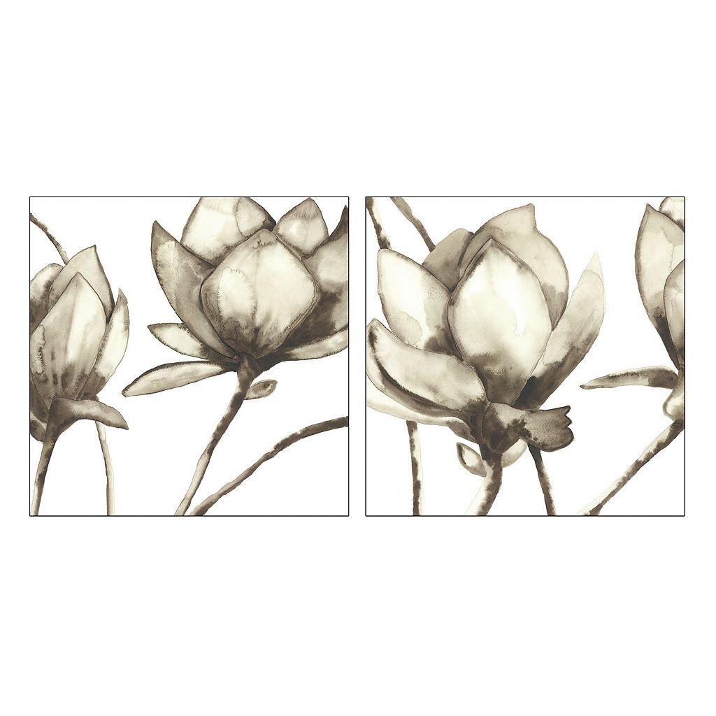 Artissimo Magnolia I & II Canvas Wall Art 2-piece Set