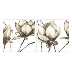 Artissimo Magnolia I & II Canvas Wall Art 2-piece Set
