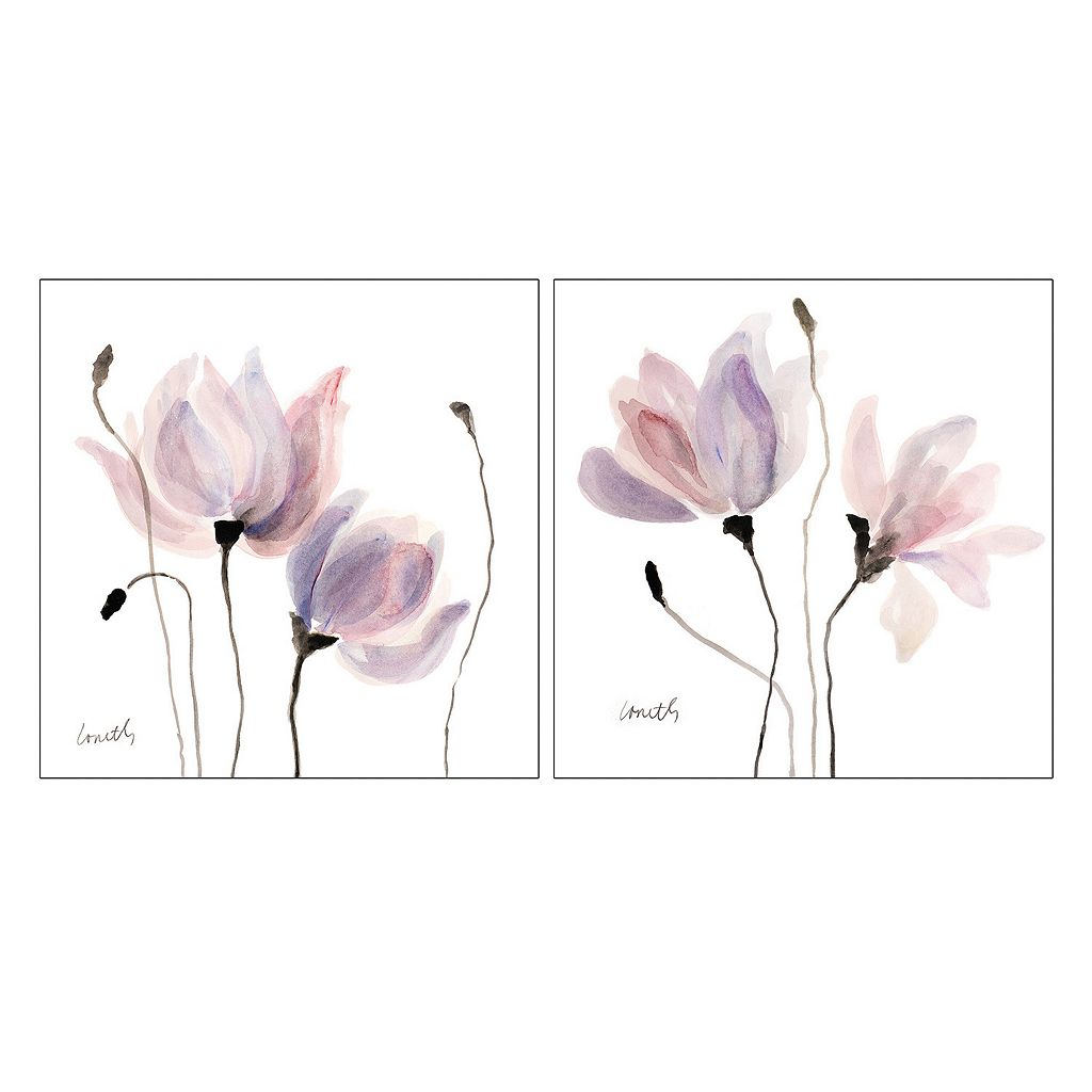 Artissimo Floral Sway I & III Canvas Wall Art 2-piece Set