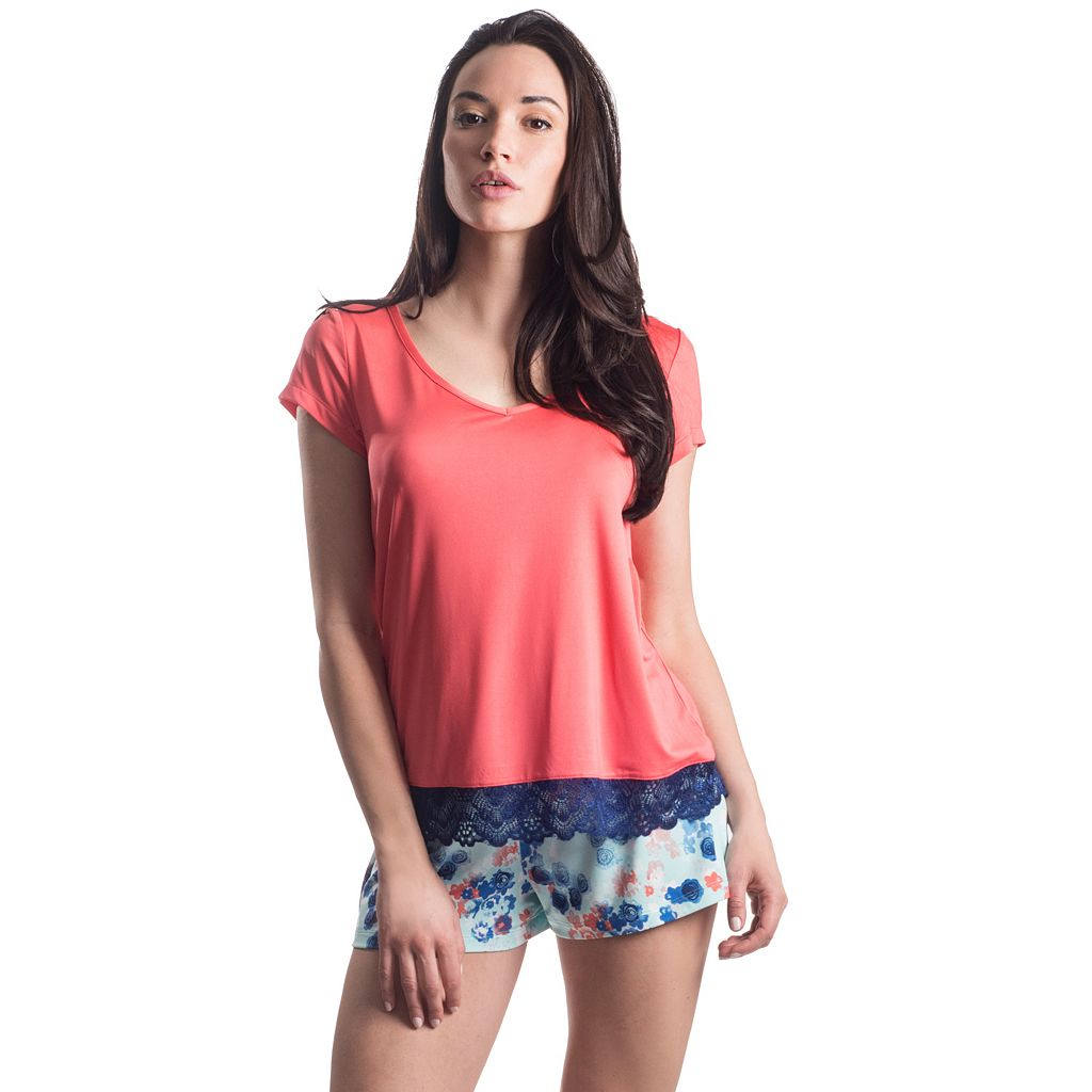 Women's Maidenform Pajamas: Sleep Tee & Shorts PJ Set