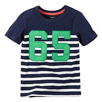 Toddler Boy Carter's Striped Applique Tee