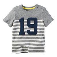Toddler Boy Carter's Striped Applique Tee