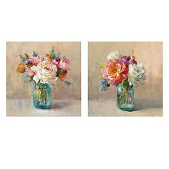 Artissimo Cottage Bouquet Canvas Wall Art 2-piece Set