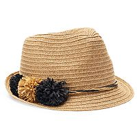 SONOMA Goods for Life™ Straw Pom-Pom Fedora