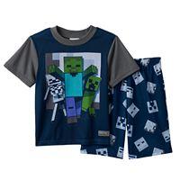 Boys 6-12 2-Piece Minecraft Pajama Set