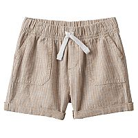 Baby Boy Jumping Beans® Khaki Striped Roll Cuff Shorts