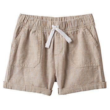 Baby Boy Jumping Beans® Khaki Striped Roll Cuff Shorts