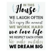 "Artissimo ""In This House"" Canvas Wall Art"