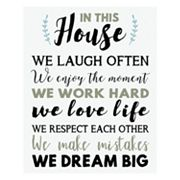 Artissimo 'In This House' Canvas Wall Art