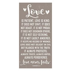 Artissimo 'Love is Patient' Canvas Wall Art