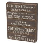 """Light For The Way"" Wood Box Sign Art"