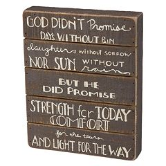 'Light For The Way' Wood Box Sign Art
