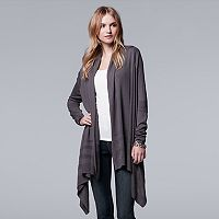 Women's Simply Vera Vera Wang Ribbed High-Low Cardigan