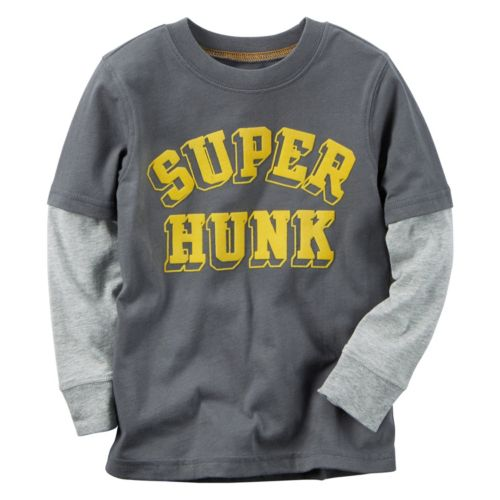 Boys 4-8 Carter's Mock-Layered Long Sleeve Graphic Tee