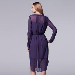 Women's Simply Vera Vera Wang Crepe Shirtdress