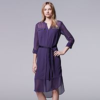 Women's Simply Vera Vera Wang Crepe Shirtdress