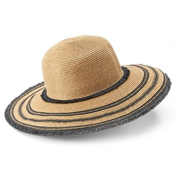 SONOMA Goods for Life™ Straw Frayed Floppy Hat