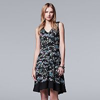 Women's Simply Vera Vera Wang Print Fit & Flare Dress