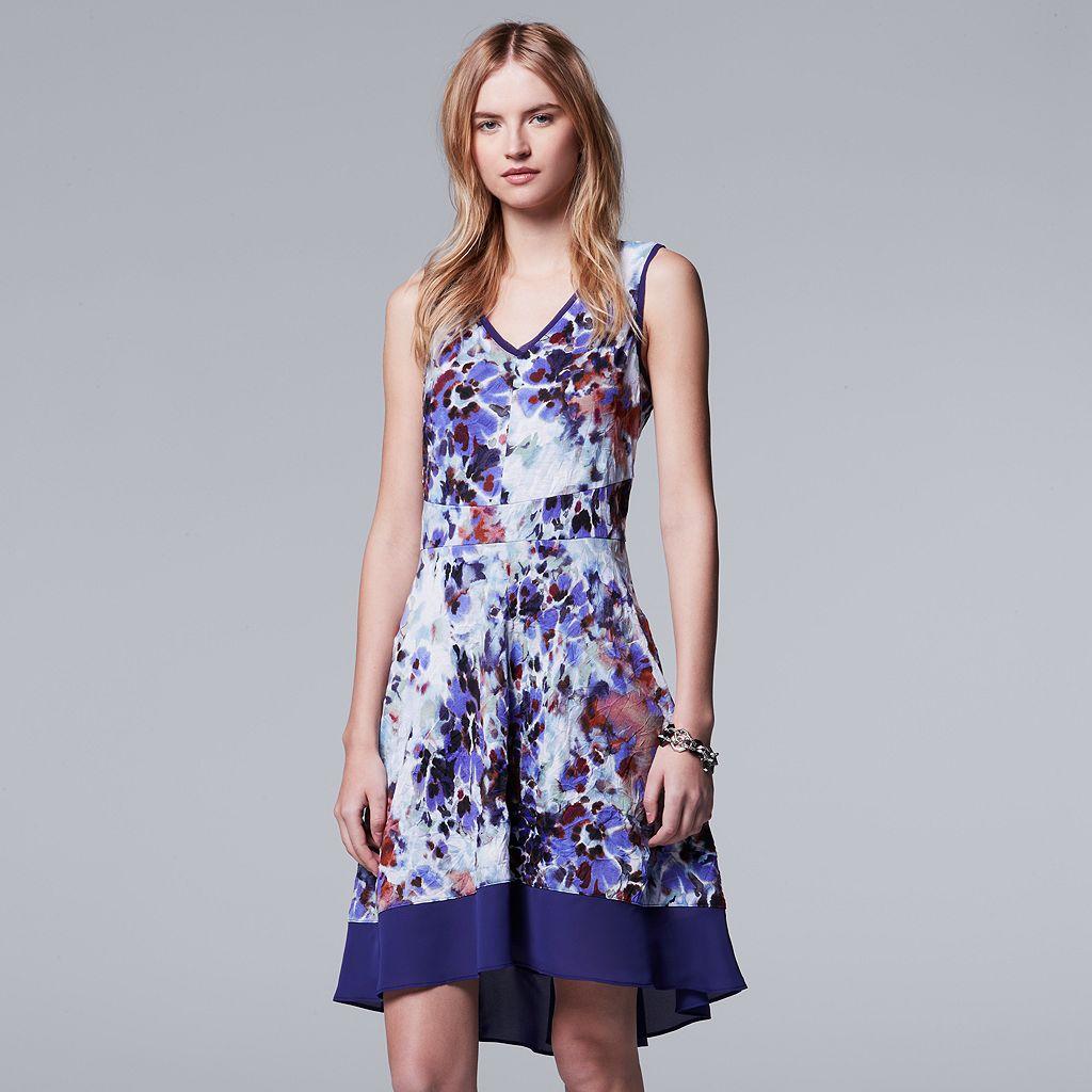 Women's Simply Vera Vera Wang Print Fit & Flare Dress