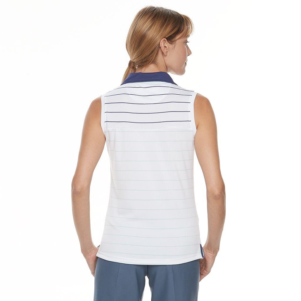 Women's Pebble Beach Stripe Sleeveless Polo