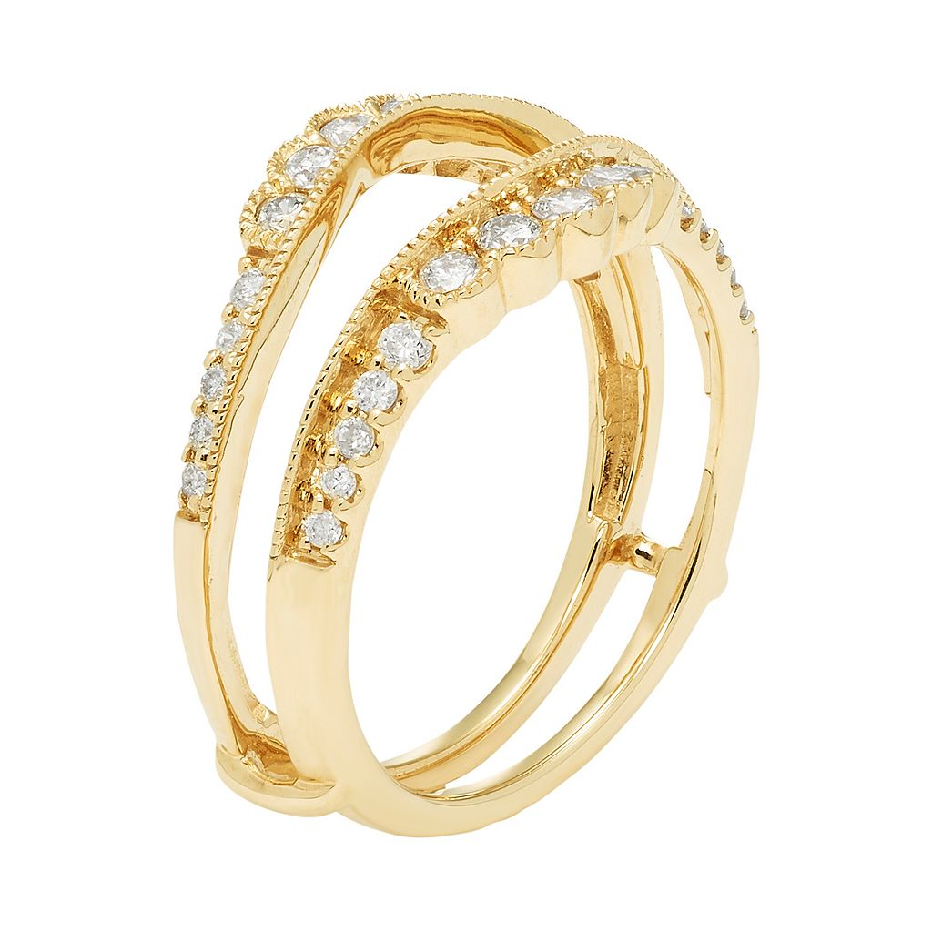 14k Gold 1/2 Carat T.W. Diamond Enhancer Wedding Ring