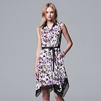 Women's Simply Vera Vera Wang Print Shirtdress