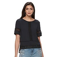 Women's Jennifer Lopez Crochet Boxy Top