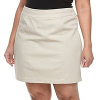 Plus Size Croft & Barrow® Seamed-Waist Polished Skort