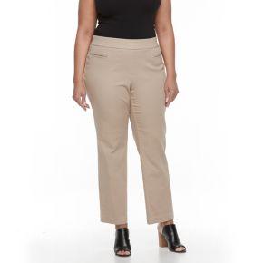 Plus Size Croft & Barrow® Polished Pull-On Pants