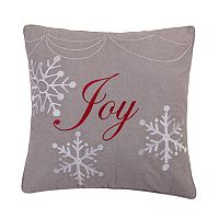 Sleigh Bells Joy Throw Pillow