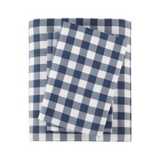 Woolrich 4-piece Nordic Snowflake Flannel Sheet Set