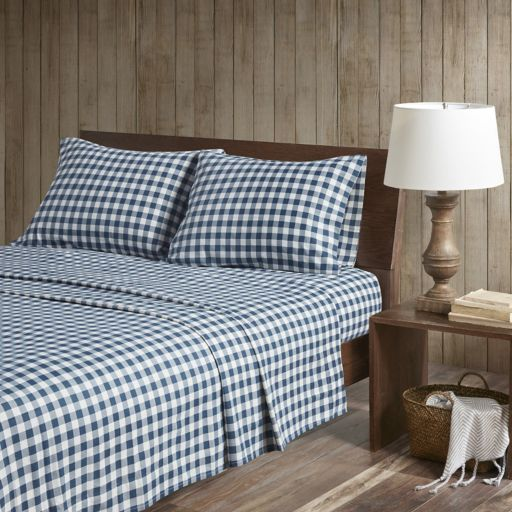Woolrich 4-piece Nordic Snowflake Flannel Sheet Set