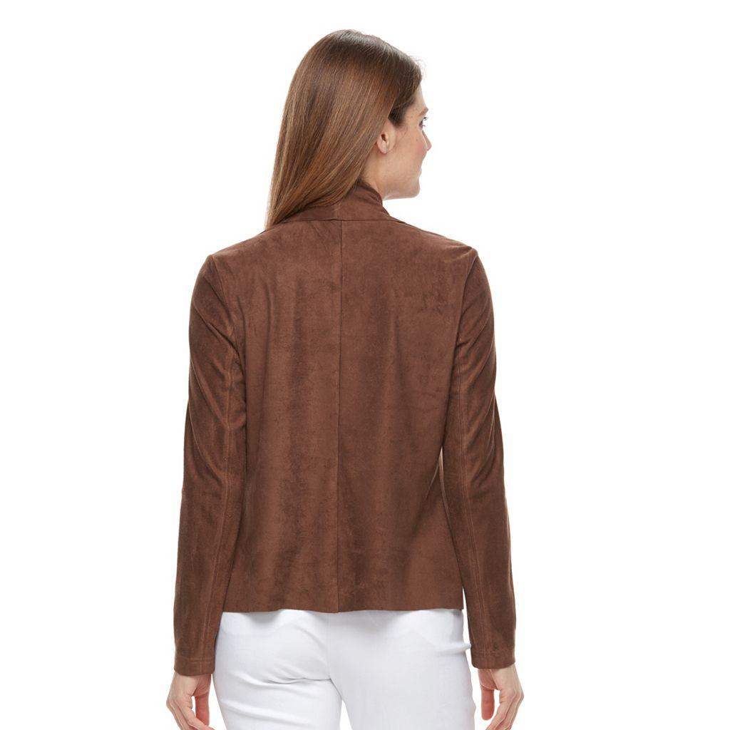 Petite Dana Buchman Faux-Suede Jacket