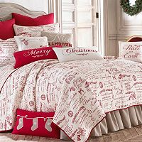 Christmas Script 3-piece Quilt Set