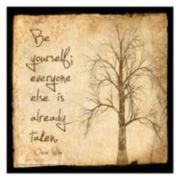 "Art.com ""Be Yourself"" Wall Art Print"