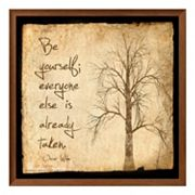 Art.com 'Be Yourself' Framed Wall Art