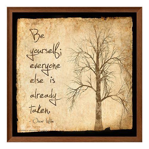 """Art.com """"Be Yourself"""" Framed Wall Art"""