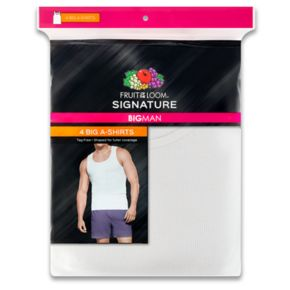 Big & Tall Fruit of the Loom Signature 4-pack A-Shirts