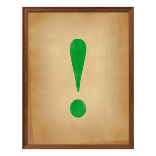 Art.com Exclamation Point Framed Wall Art