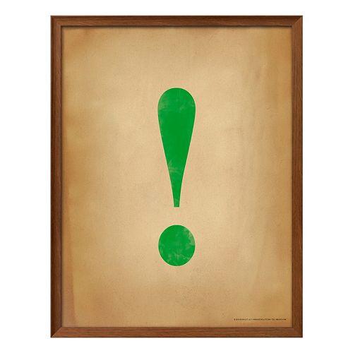 Art.com Exclamation Point Framed Wall Art